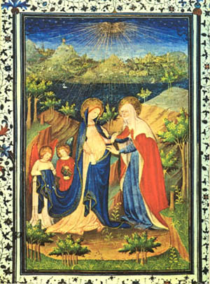 The Visitation from the Book of Hours of the Duke of Berry