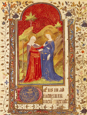 The Visitation from Isabella la catolica's Book of hours