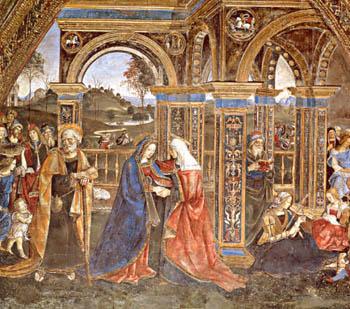 The Visitation, Pinturicchio