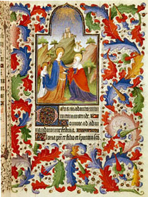 The visitation from the prayer book of Francois, Duc of Guise