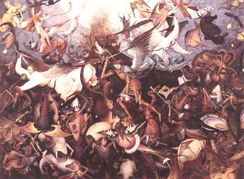 Devils cast out during the war in Heaven, by Peter the Bruegel Elder