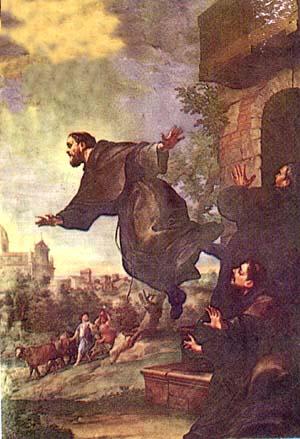 St. Joseph Cupertino levitating in prary