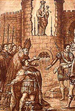 The discovery of the Almudena statue