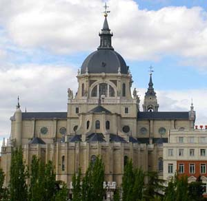 Exterior of the Almudena Cathedral