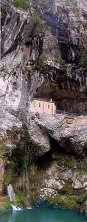 The sanctuary cave of Covadonga