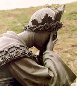 A weeping statue of the Virgin of La Salette