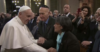 Pope Francis visit to the synagogue 3