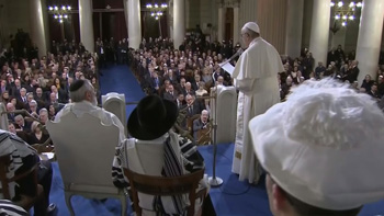 Pope Francis visit to the synagogue 4