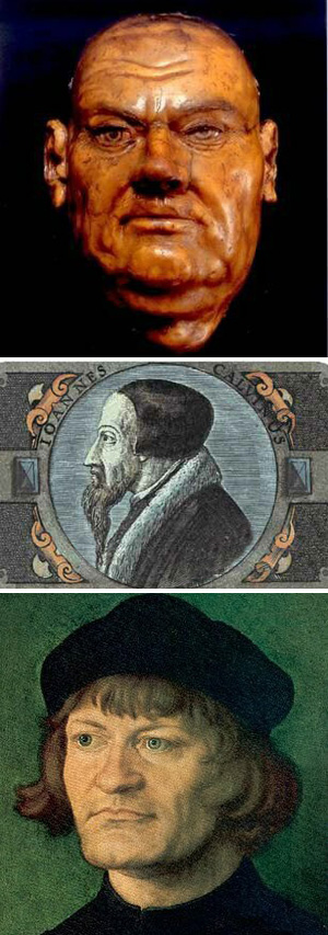 Heretics Luther, Calvin & Zwingli