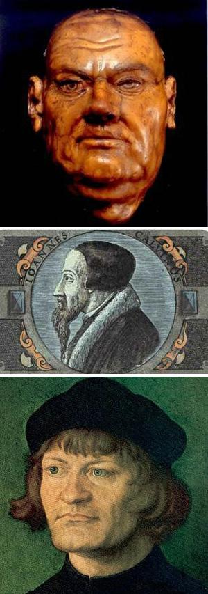 Heretics Luther, Calvin & Zwingli