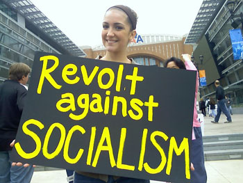 Protest against Socialism