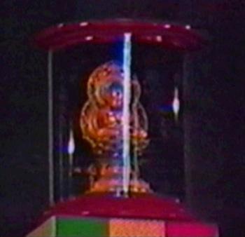 Estatua de Buda sobre el Tabernáculo en Asís 1986