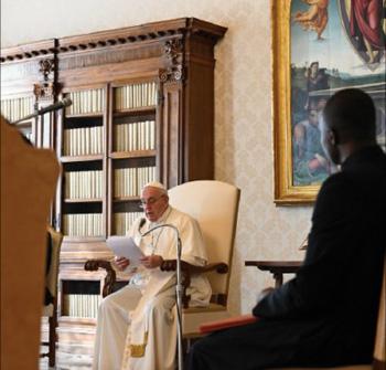Francisco pronuncia un discurso sobre María Mediadora