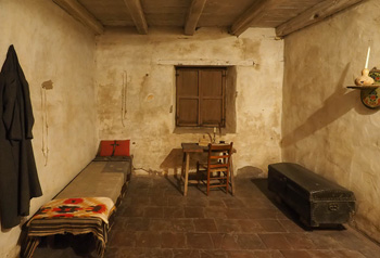 The cell and bed of fr. Junipero Serra