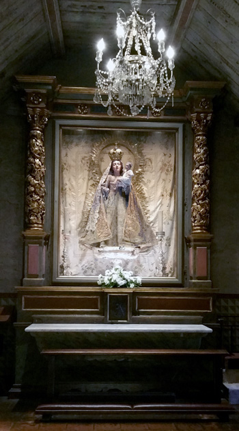 Shrine and statue of our Lady in the chapel of our Lady of Bethlehem