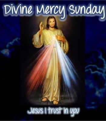 An image promoting divine mercy sunday