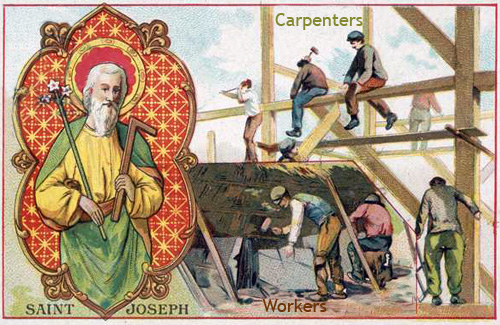 patron of carpenters and workers