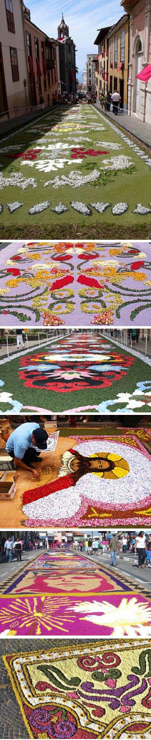Tapicería de flores de la calle Corpus Christi.