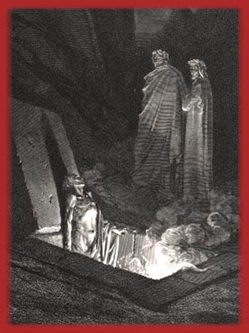Dante visiting Hell