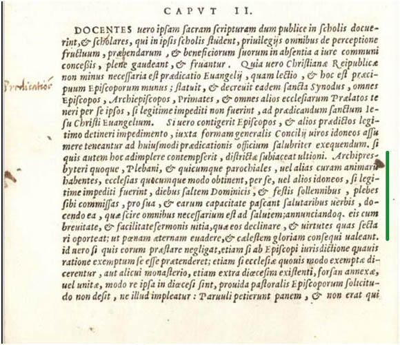 Latin text of the Council of Trent